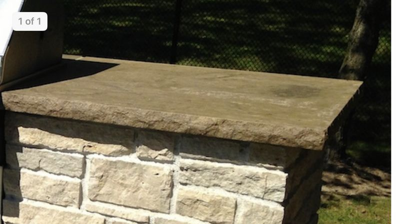 Concrete Custom Countertop for Grill Station